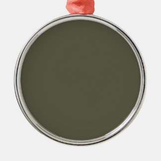 French Grey 9a Color Only Custom Design Metal Ornament