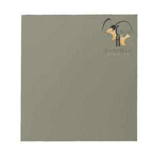 French Grey Army Green Cricket Logo CricketDiane Note Pad