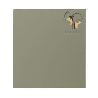 French Grey Army Green Cricket Logo CricketDiane Notepad