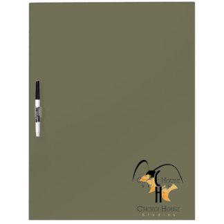French Grey Army Green Dry Erase Cricket House Dry-Erase Board