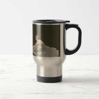 French Grey Custom Design Ballerina Ballet Dance Travel Mug