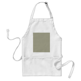 French Grey Khaki Color Only Custom Design Adult Apron