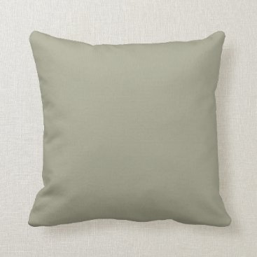 Professional Business French Grey Khaki Color Only Custom Design Throw Pillow