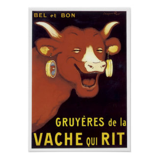 French Gruyere Cheese Advertisement Posters