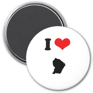 FRENCH GUIANA 3 INCH ROUND MAGNET