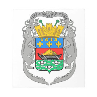 French Guiana Coat of Arms Memo Note Pad
