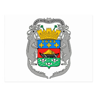 French Guiana Coat of Arms Postcard