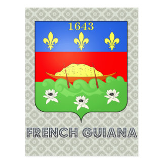 French Guiana Coat of Arms Post Card