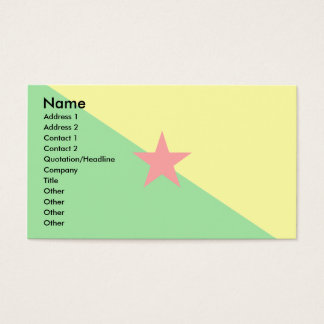 French Guiana Flag Business Card