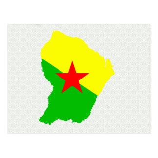 French Guiana Flag Map full size Postcard