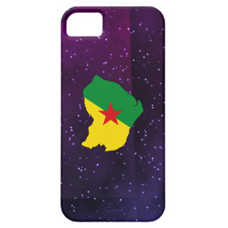French Guiana Flag Map on abstract space backgroun iPhone SE/5/5s Case