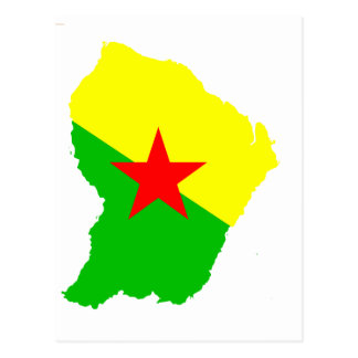 FRENCH Guiana flag map Postcard