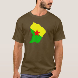 FRENCH Guiana flag map T-Shirt