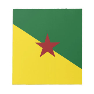 French Guiana Flag Scratch Pad