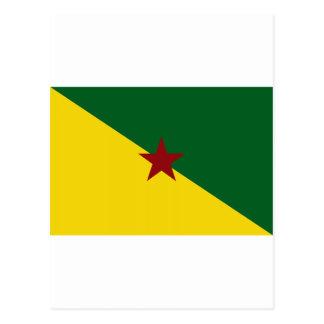 French Guiana Flag Postcard