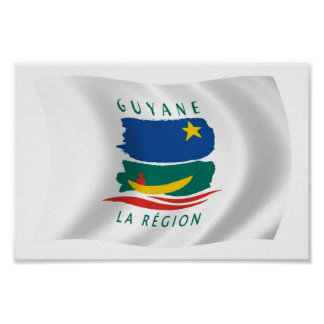 French Guiana Flag Poster Print