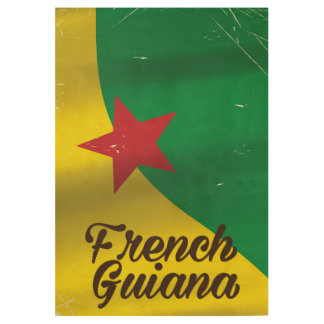 French Guiana flag travel poster