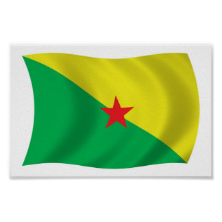 French Guiana Liberation Flag Poster Print