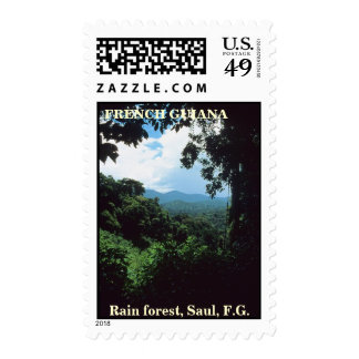 FRENCH GUIANA: Tropical rain forest view Postage
