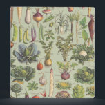 """French Guide To The Garden Binder<br><div class=""""desc"""">A modified vintage botany print from a French guide to garden vegetables</div>"""