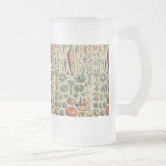 French Guide To The Garden Frosted Glass Beer Mug