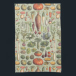 """French Guide To The Garden Kitchen Towel<br><div class=""""desc"""">A modified vintage botany print from a French guide to garden vegetables</div>"""
