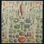 """French Guide To The Garden Napkin<br><div class=""""desc"""">A modified vintage botany print from a French guide to garden vegetables</div>"""