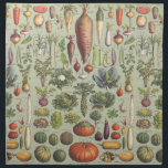"French Guide To The Garden Napkin<br><div class=""desc"">A modified vintage botany print from a French guide to garden vegetables</div>"