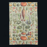 """French Guide To The Garden Towel<br><div class=""""desc"""">A modified vintage botany print from a French guide to garden vegetables</div>"""