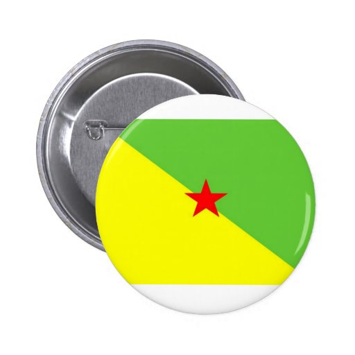 French Guyana Flag Buttons