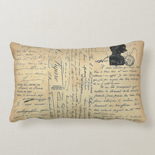 French Hand Wrighting Lombard Lumbar Pillow