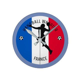 FRENCH HANDBALL PLAYER ROUND CLOCK