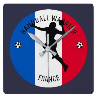 FRENCH HANDBALL PLAYER SQUARE WALL CLOCK