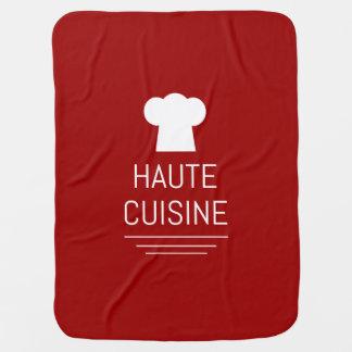 French Haute Cuisine Gourmet Foodie Baby Blanket