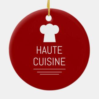 French Haute Cuisine Gourmet Foodie Ceramic Ornament
