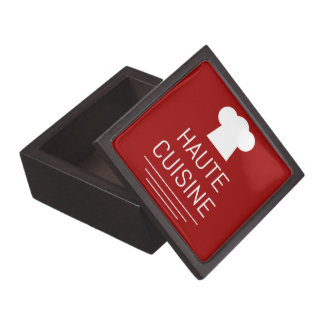 French Haute Cuisine Gourmet Foodie Jewelry Box
