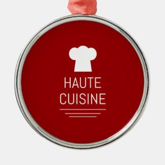 French Haute Cuisine Gourmet Foodie Metal Ornament