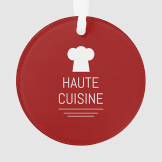 French Haute Cuisine Gourmet Foodie Ornament