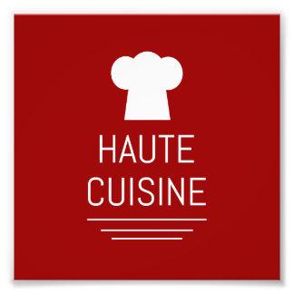 French Haute Cuisine Gourmet Foodie Photo Print