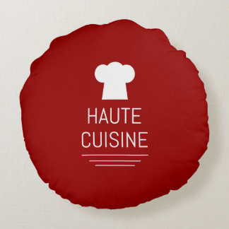 French Haute Cuisine Gourmet Foodie Round Pillow