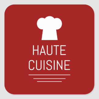 French Haute Cuisine Gourmet Foodie Square Sticker