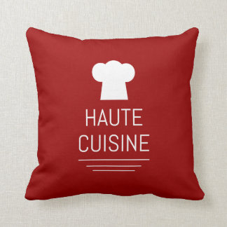 French Haute Cuisine Gourmet Foodie Throw Pillow