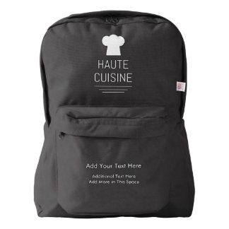 French Haute Cuisine Gourmet Kitchen American Apparel™ Backpack