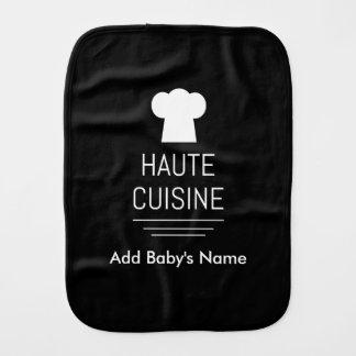 French Haute Cuisine Gourmet Kitchen Burp Cloth