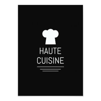 French Haute Cuisine Gourmet Kitchen Card