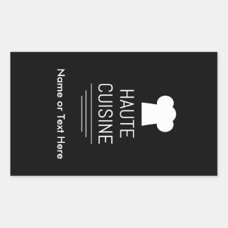 French Haute Cuisine Gourmet Kitchen Rectangular Sticker