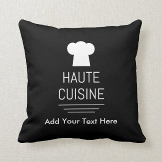 French Haute Cuisine Gourmet Kitchen Throw Pillow