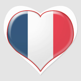French Heart Charm Heart Stickers