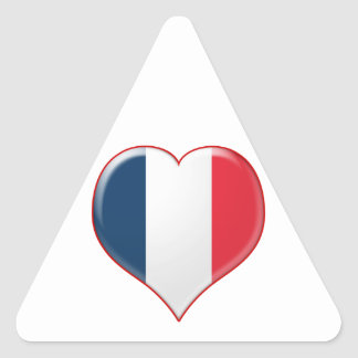 French Heart Charm Triangle Sticker