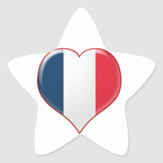 French Heart Charm Star Stickers